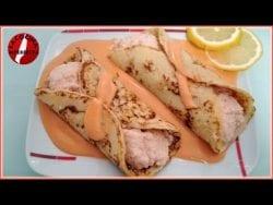 Crepes de Salmon y Rellenos de Marisco