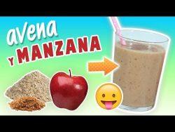 Batido de Avena y Manzana para Adelgazar – Licuado para Bajar de Peso Rápido – YouTube