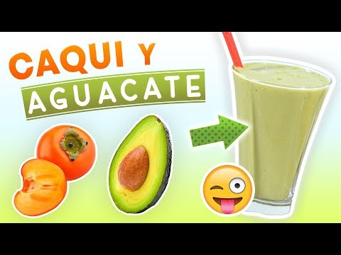 Batido de Caqui y Aguacate para Desayunar – Licuado para Acelerar el Metabolismo y Perder Peso – YouTube