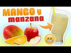 Batido de Mango y Manzana para Sustituir el Desayuno – Licuado Saludable de Yogur Natural  ...