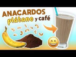 Batido Energético de Anacardos, Plátano y Café – Licuado de Proteínas Casero Pre Entreno & ...