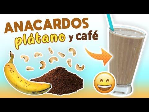 Batido Energético de Anacardos, Plátano y Café – Licuado de Proteínas Casero Pre Entreno – YouTube