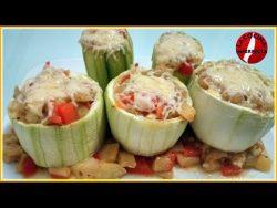 Calabacines Rellenos de Verduras – YouTube
