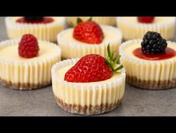 Easy Mini Cheesecakes Recipe – YouTube