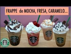 4 FRAPPUCCINOS Starbucks (de mocha, fresa, caramelo, java chip) – YouTube