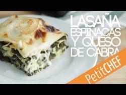 Lasaña vegetariana de espinacas y queso de cabra | Petitchef – YouTube