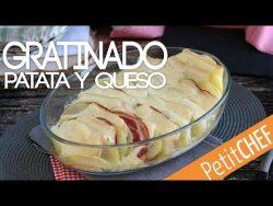 Receta Gratinado de patatas con queso y panceta I Petitchef
