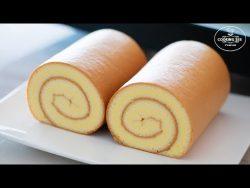 Cómo hacer pastel de rollo suizo / Receta básica de pastel de rollo / Pastel de rollo fácil