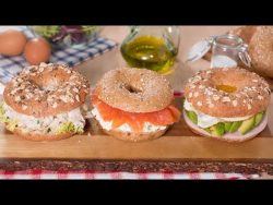 Tres Deliciosas Ideas Para Rellenar Bagels – YouTube