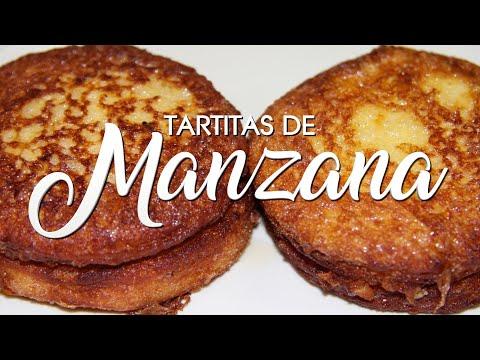 TARTITAS DE MANZANA 🍏 Pasteles de MANZANA con pan de MOLDE 🍞 SIN HORNO 👍