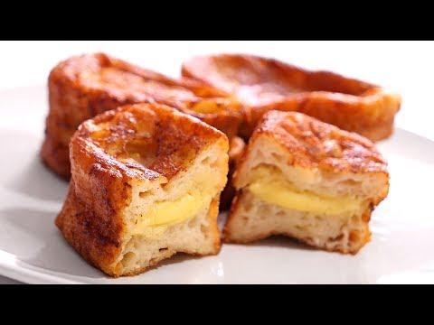 Torrijas de Leche rellenas con Crema Pastelera | Postre muy Fácil y Delicioso